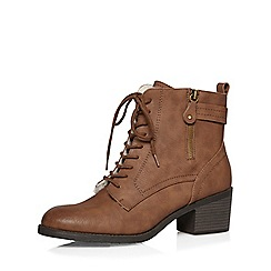 Dorothy Perkins - Tan 'believe' lace up boots