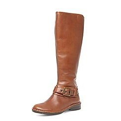 Dorothy Perkins - Tan leather knee high boots