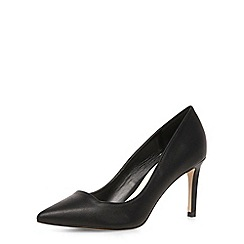 Dorothy Perkins - Black mid height pointed court shoes