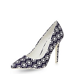 Dorothy Perkins - Blue tile print pointed courts