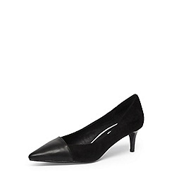 Dorothy Perkins - Black kitten heel court