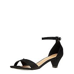 Dorothy Perkins - Black glitter rylie sandal