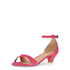 Dorothy Perkins - Pink low peg heel sandals