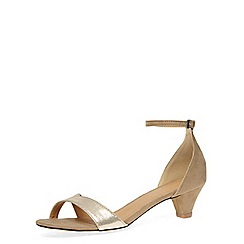 Dorothy Perkins - Gold low heel ankle sandals