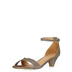 Dorothy Perkins - Bronze glitter rylie sandal