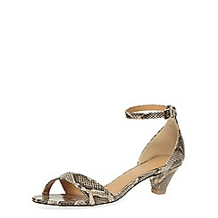 Dorothy Perkins - Snake print low ankle sandals
