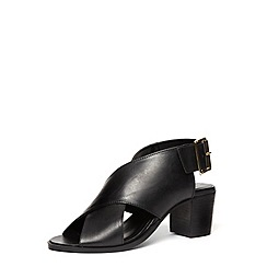Dorothy Perkins - Black leather cross sandal