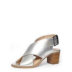 Dorothy Perkins - Silver leather cross sandal