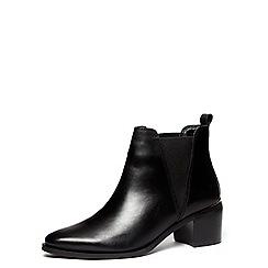 Dorothy Perkins - Black suede block heel boots