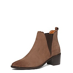 Dorothy Perkins - Mink suede block heel boots