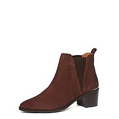 Dorothy Perkins - Chocolate suede heel boots