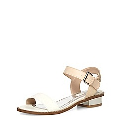 Dorothy Perkins - Nude white block heel sandals