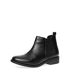 Dorothy Perkins - Black leather chelsea boots