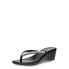 Dorothy Perkins - Black gem edge strap sandals