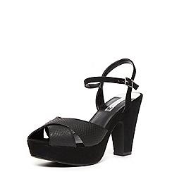 Dorothy Perkins - Black cross over sandals