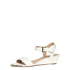 Dorothy Perkins - White snake effect low wedge sandals
