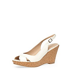 Dorothy Perkins - White slingback cork wedges
