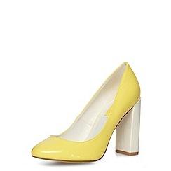 Dorothy Perkins - Yellow high block heel courts