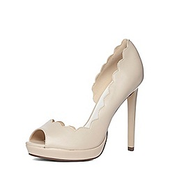 Dorothy Perkins - Nude high peep toe court