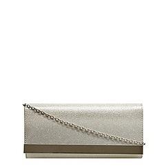 Dorothy Perkins - Silver glitter clutch bag