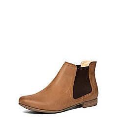 Dorothy Perkins - Tan leather boots