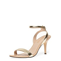 Dorothy Perkins - Gold minimal low heel sandals