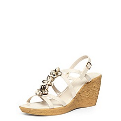 Dorothy Perkins - Gold flower multi strap wedge sandals