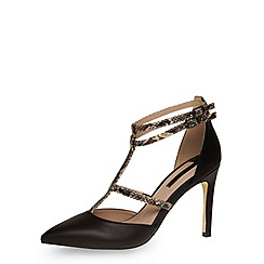 Dorothy Perkins - Black high multi strap courts