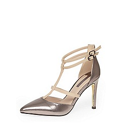 Dorothy Perkins - Pewter high multi strap courts