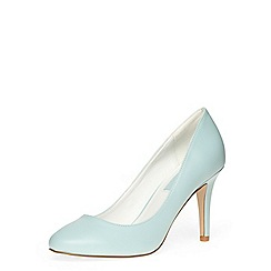 Dorothy Perkins - Blue almond toe mid heel court shoes
