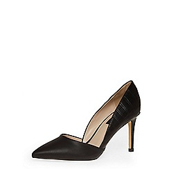 Dorothy Perkins - Black mid height 2-part point courts