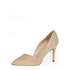 Dorothy Perkins - Nude mid height 2-part point courts