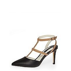Dorothy Perkins - Nude and black t-bar courts