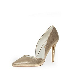 Dorothy Perkins - Gold high 2-part pointed courts