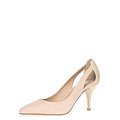 Dorothy Perkins - Nude cut out detail mid height courts
