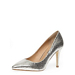 Dorothy Perkins - Silver mid pointed court