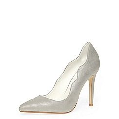 Dorothy Perkins - Silver high pointed courts