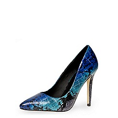 Dorothy Perkins - Coloured snake pointed court shoes