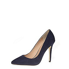 Dorothy Perkins - Navy suedette high pointed court shoes