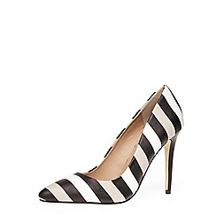 Dorothy Perkins - Mono stripe pointed court shoes