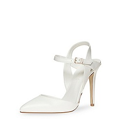 Dorothy Perkins - White high open pointed courts
