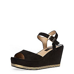 Dorothy Perkins - Black suedette wedge heels