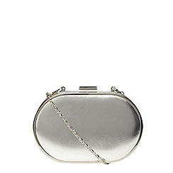 Dorothy Perkins - Silver oval clutch bag