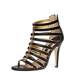 Dorothy Perkins - Black caged heel sandals