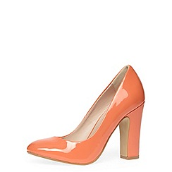 Dorothy Perkins - Coral high block heel court