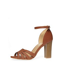 Dorothy Perkins - Tan high open weave court