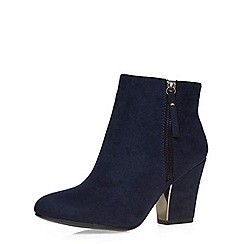 Dorothy Perkins - Navy 'lyndsey' heeled boots