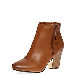 Dorothy Perkins - Tan 'lyndsey' heeled boots