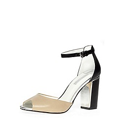 Dorothy Perkins - Nude high open peep toe court