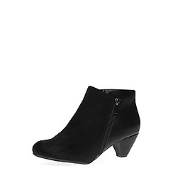 Dorothy Perkins - Black low heel zip ankle boots